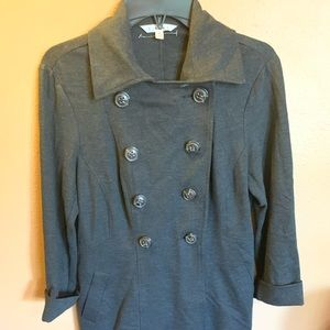 Cabi Dark Gray Double Breasted Dress Coat - S